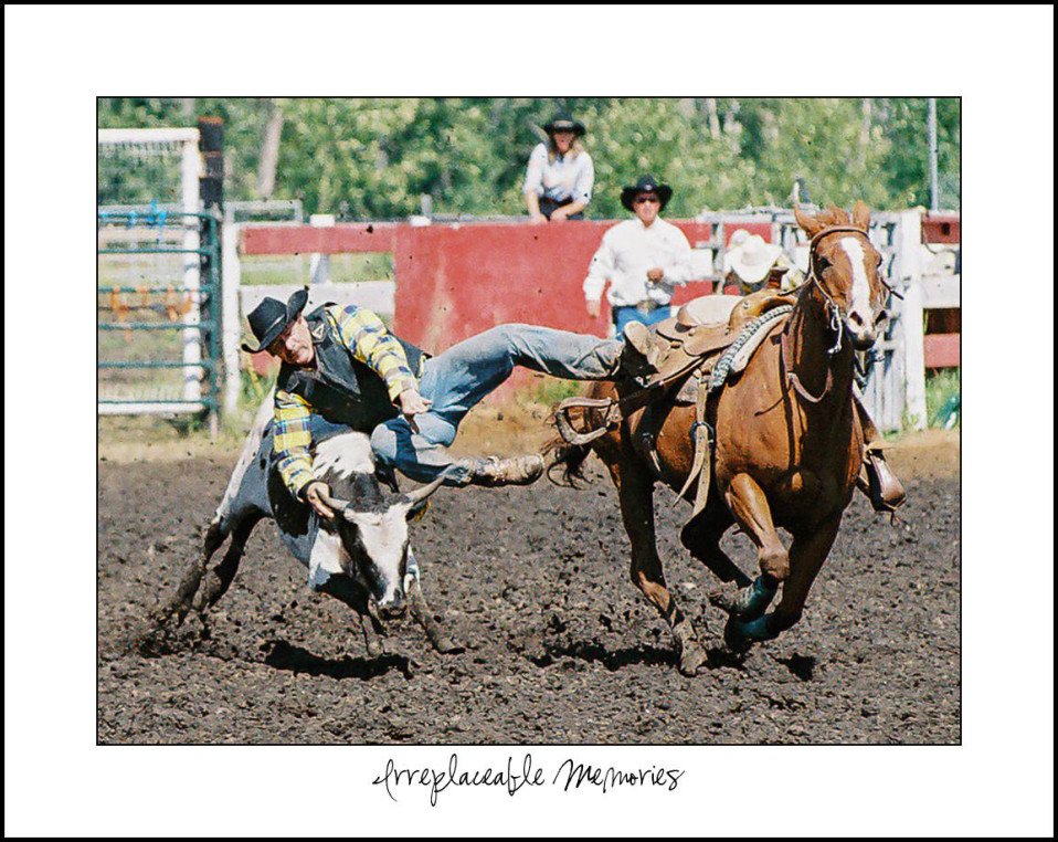 Steer Wrestling at the Doig River Rodeo