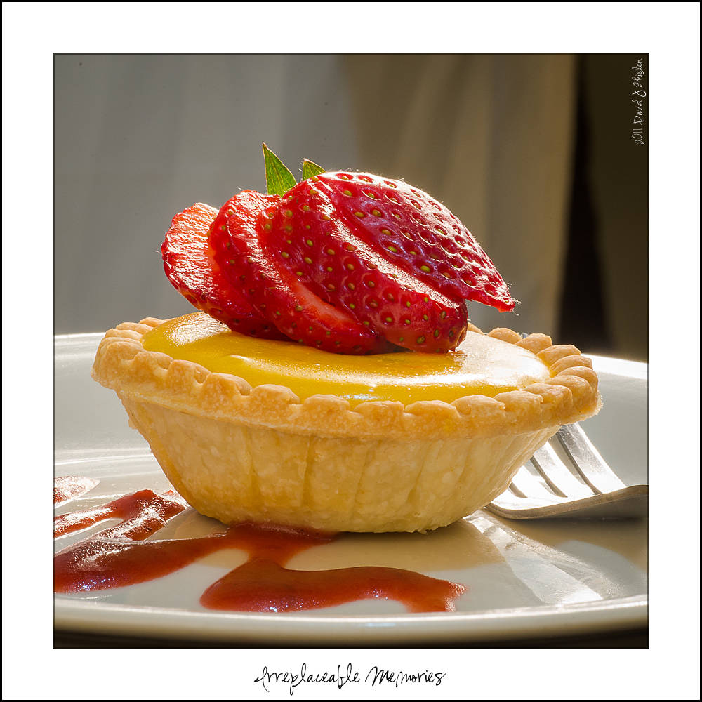 Lemon Tart with Strawberry