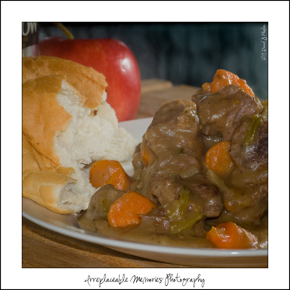 BEEF STEW IN APPLE CIDER SAUCE